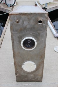 Custom made stainless steel holding tank for a Westsail 32