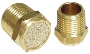 Freshwater tank breather vent fitting allows air in and out but prevents debris from entering the system