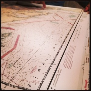Planning our passage through the Strait of Juan de Fuca - Photo by Ryan Davey
