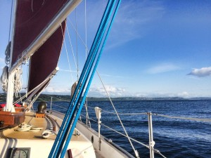 Heading home under sail