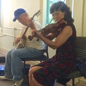 Clare Milliner and Walt Kokken playing Old Time tune