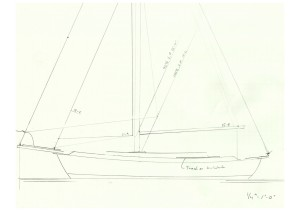 Schattauer Sails - sketch of the new sail plan with yankee