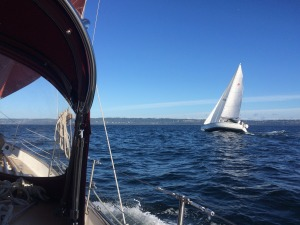 Head to wind, first fall sailing