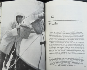 After 50,000 Miles shows Hal collecting rain water from his Schattauer mainsail
