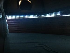 Forward berth LED light strip on low setting