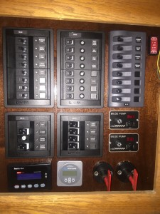 New circuit panel before trim installed