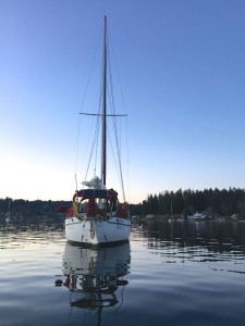 Satori anchored in Gig Harbor