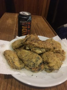 Fried Pacific oysters from Blind Bay