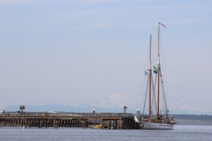 Schooner Adventuress at her mooring in Port Townsend