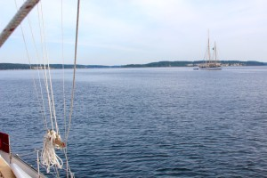 Schooner Zodiac at her anchorage in Port Townsend