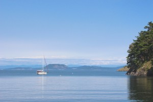 A beautiful anchorage in Watmough Bay