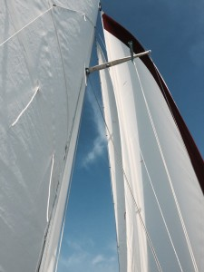 Three sails, three sheets to the wind
