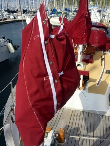 Satori's StaySail Bag, a new approach to sail bagging.