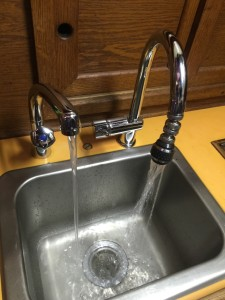 On demand freshwater and seawater faucets