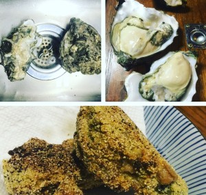 Fresh fried pacific oysters from Garrison Bay